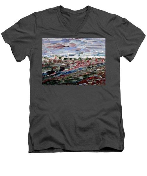 Life Goes On Men's V-Neck T-Shirt by Vadim Levin