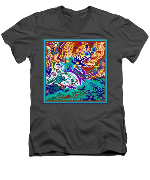Life Ignition Option 2 With Borders Men's V-Neck T-Shirt