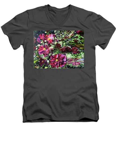 Life In A Bloom Field Men's V-Neck T-Shirt
