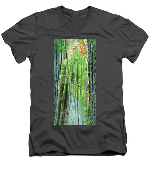 Life In A Redwood Forest Men's V-Neck T-Shirt