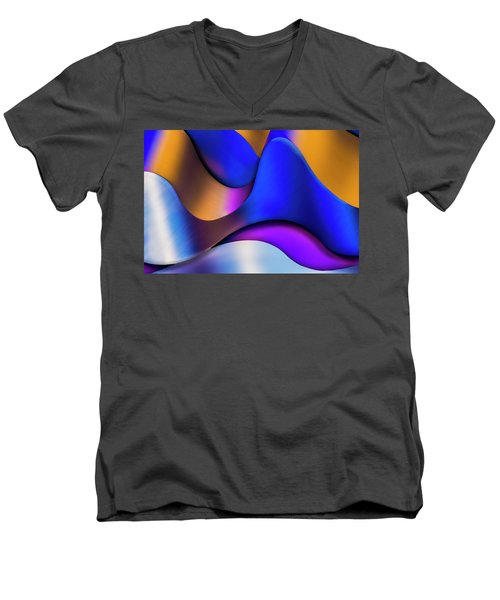 Life In Color Men's V-Neck T-Shirt by Paul Wear