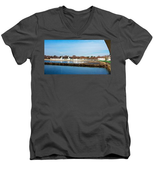 Life In Rye Men's V-Neck T-Shirt by Jose Rojas
