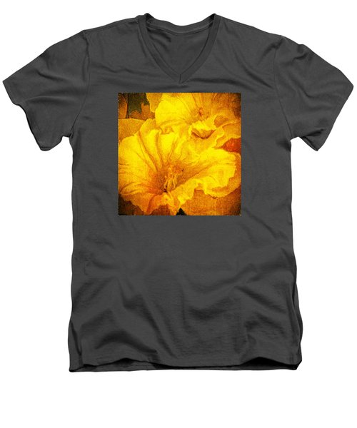 Life In Yellow Men's V-Neck T-Shirt by Lewis Mann