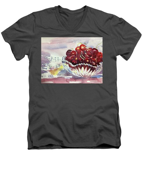 Life Is Just A Bowl Of Cherries Men's V-Neck T-Shirt