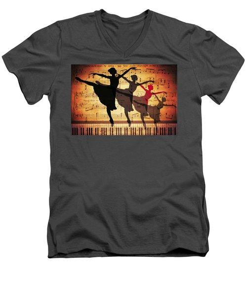 Life Is Music Men's V-Neck T-Shirt