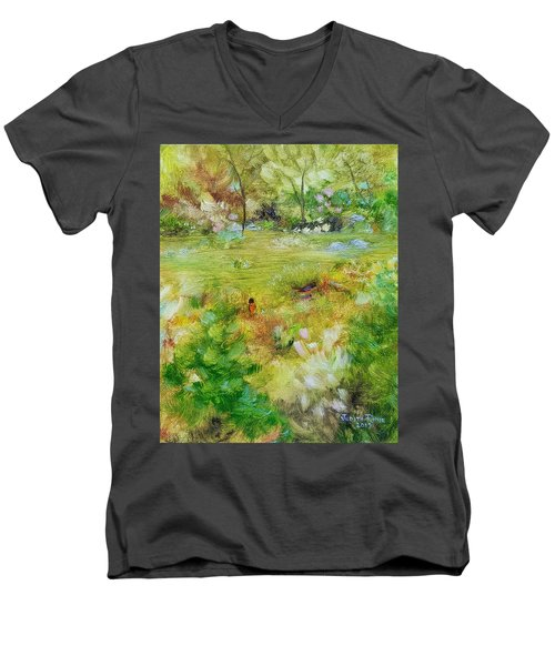 Men's V-Neck T-Shirt featuring the painting Life Lessons by Judith Rhue