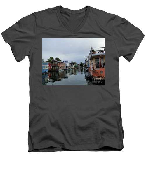 Life On The Water Men's V-Neck T-Shirt by Cindy Croal