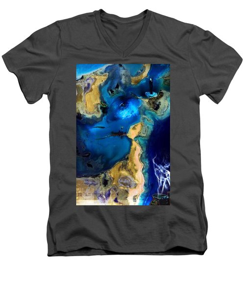 Life Stream Men's V-Neck T-Shirt