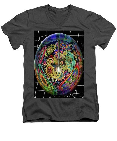 Life / Time Men's V-Neck T-Shirt