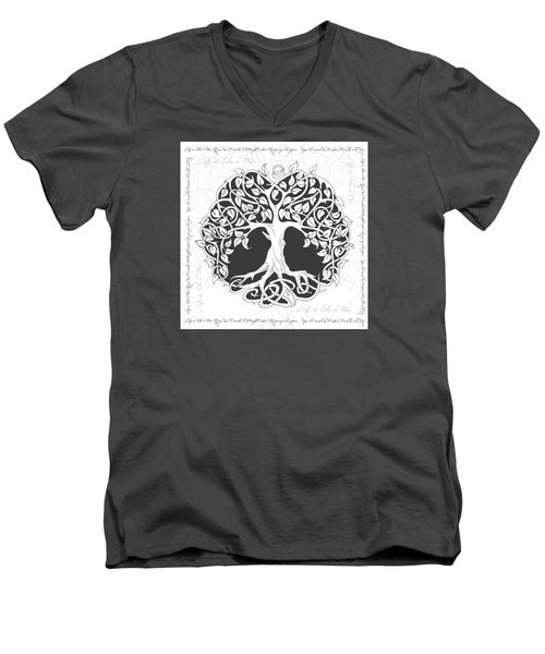 Life Tree. Life Is Like A Tree Men's V-Neck T-Shirt by Gina Dsgn