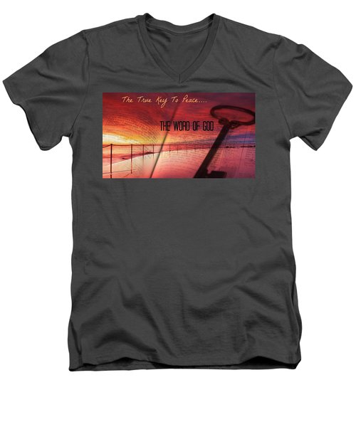 Lifeq416 Men's V-Neck T-Shirt by David Norman