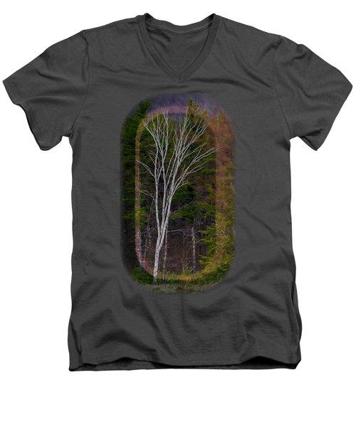 Life's A Birch No.1 Men's V-Neck T-Shirt