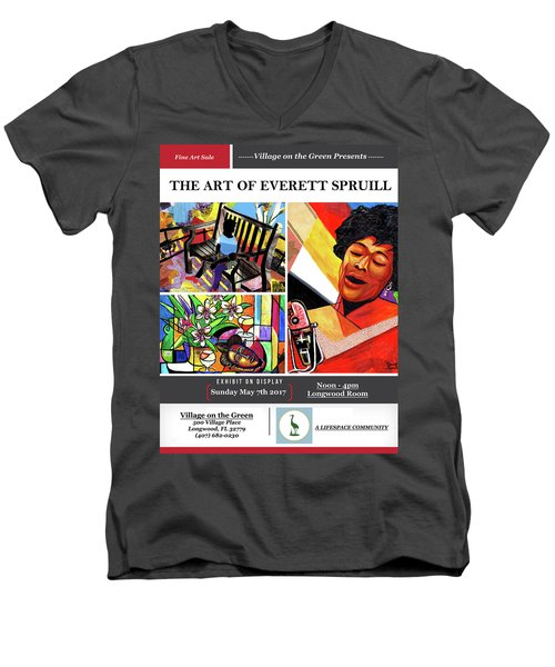 Lifespace Exhibition Poster Men's V-Neck T-Shirt