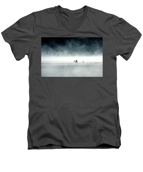 Men's V-Neck T-Shirt featuring the photograph Lift-off by Brian N Duram