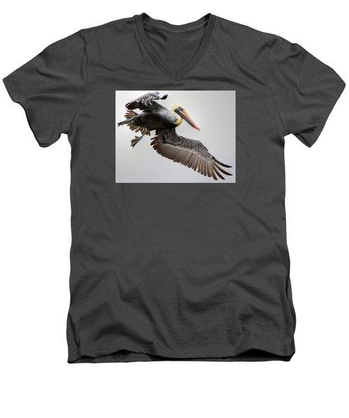 Lift Off Men's V-Neck T-Shirt by Charlotte Schafer