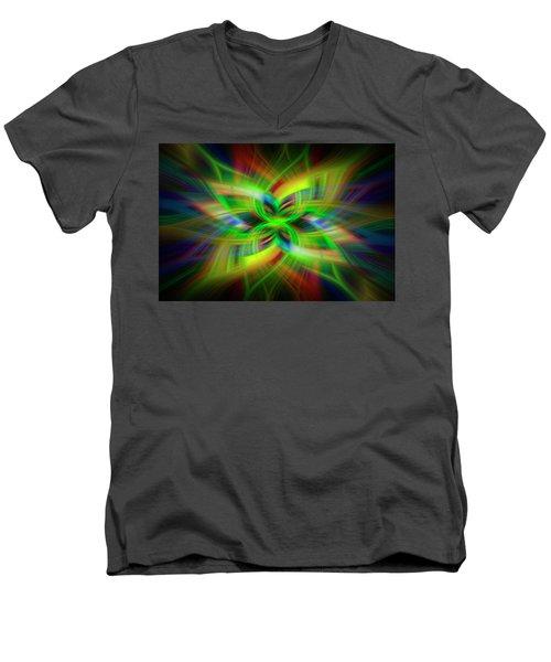 Light Abstract 1 Men's V-Neck T-Shirt