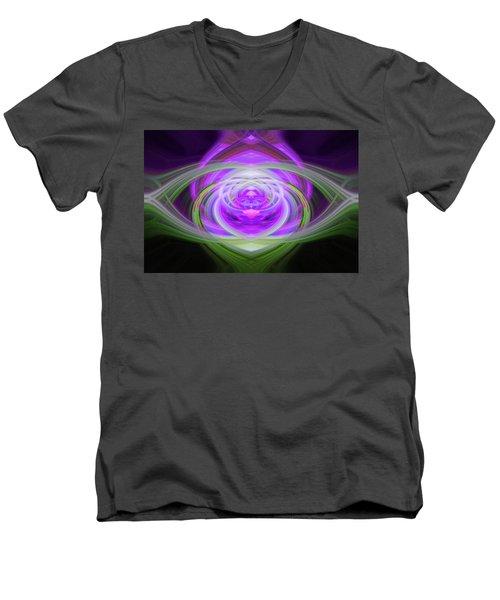 Light Abstract 3 Men's V-Neck T-Shirt