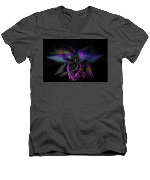 Light Abstract 4 Men's V-Neck T-Shirt