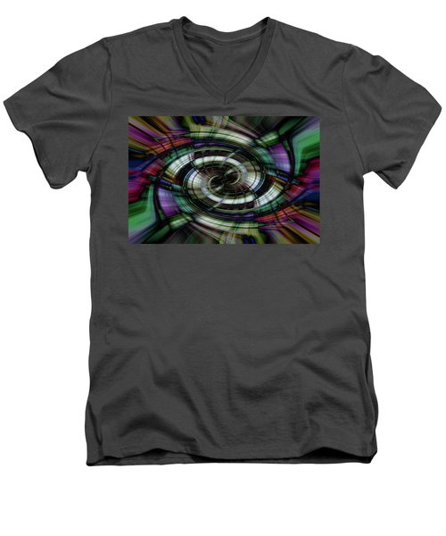 Light Abstract 6 Men's V-Neck T-Shirt