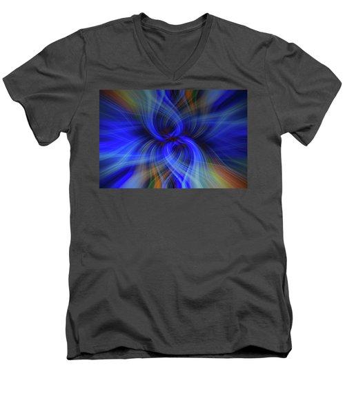 Light Abstract 7 Men's V-Neck T-Shirt