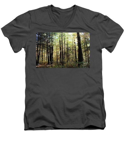 Light Among The Trees Men's V-Neck T-Shirt by Felipe Adan Lerma