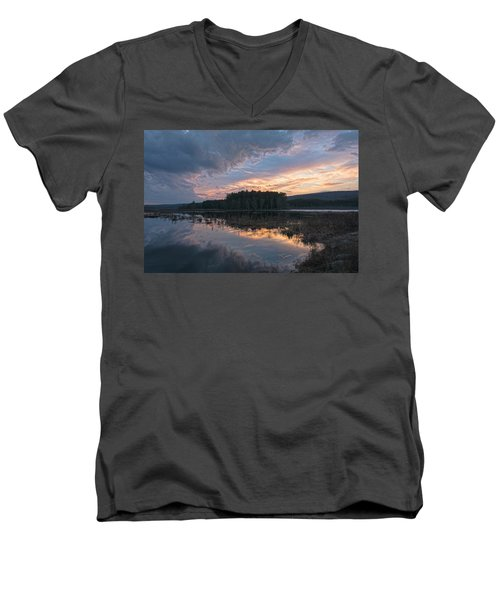 Light And Dark Men's V-Neck T-Shirt by Angelo Marcialis