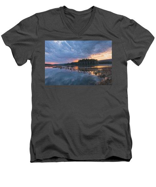 Light Cycles Men's V-Neck T-Shirt
