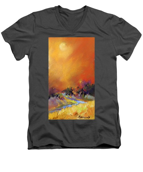 Men's V-Neck T-Shirt featuring the painting Light Dance by Rae Andrews