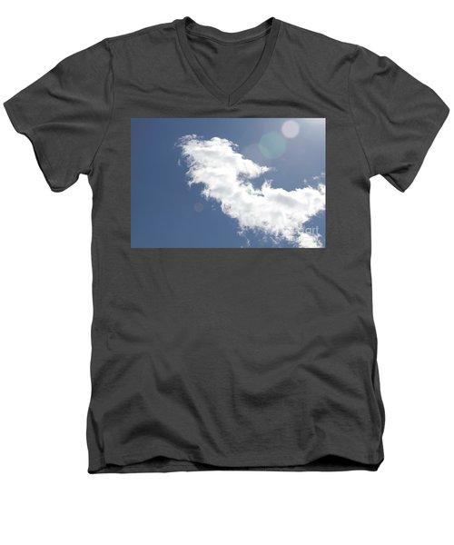 Light In Cloud Flare Men's V-Neck T-Shirt