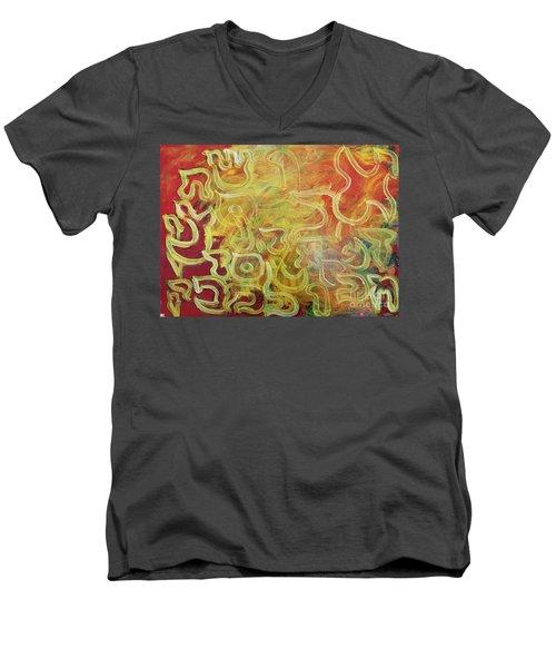 Light In The Letters Ab25 Men's V-Neck T-Shirt