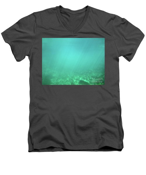 Men's V-Neck T-Shirt featuring the photograph Light In The Water by Francesca Mackenney