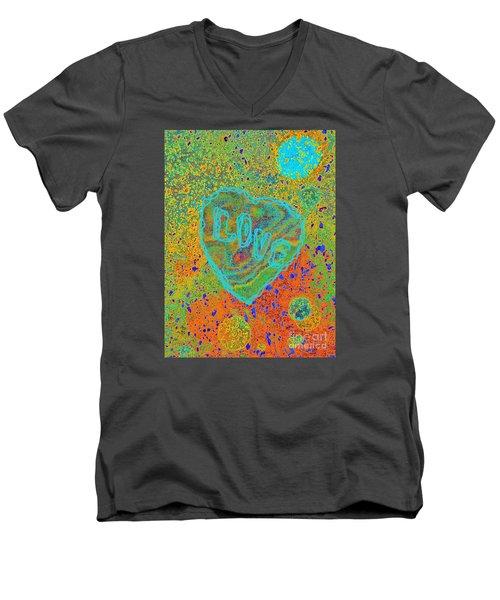 Light Love By Jasna Gopic Men's V-Neck T-Shirt