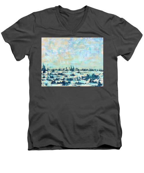 Light Over Broad Creek Men's V-Neck T-Shirt