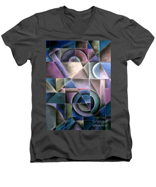 Light Patterns 1 Men's V-Neck T-Shirt