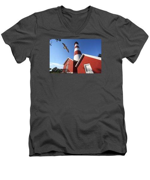 Light Men's V-Neck T-Shirt