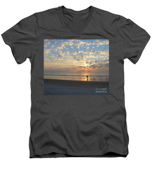 Light Run Men's V-Neck T-Shirt