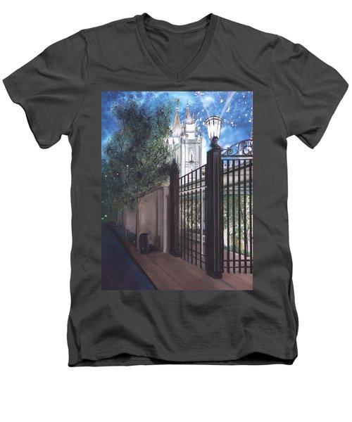 Light The World Men's V-Neck T-Shirt