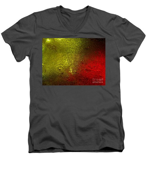 Light Under Ice Men's V-Neck T-Shirt by Trena Mara