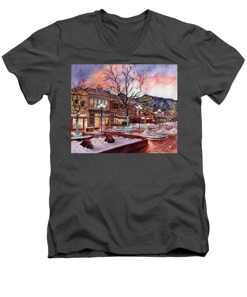 Light Up Heaven And Earth Men's V-Neck T-Shirt