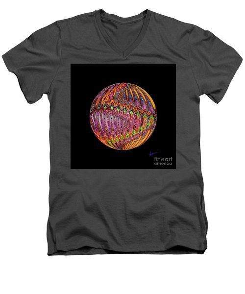 Light Up The Night Men's V-Neck T-Shirt by Vicki Pelham