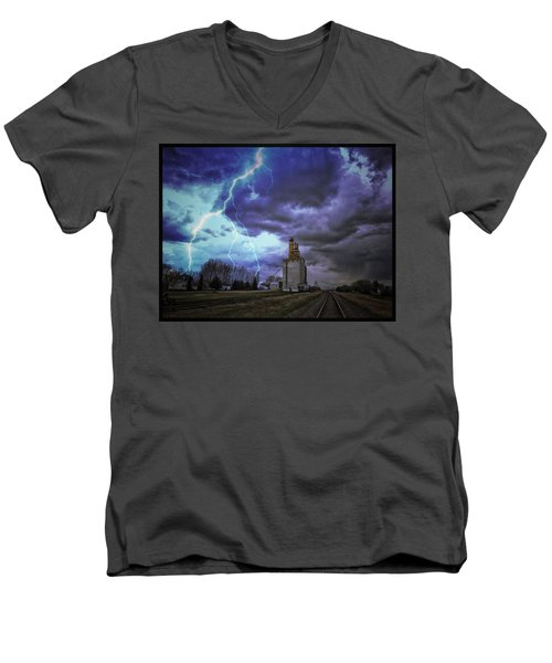 Lightening Track Men's V-Neck T-Shirt