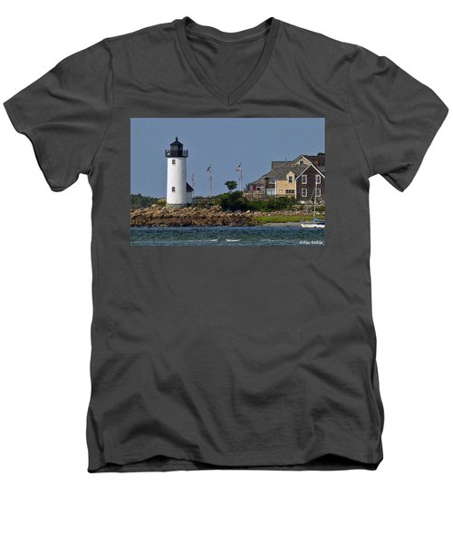 Lighthouse In The Ipswich Bay Men's V-Neck T-Shirt