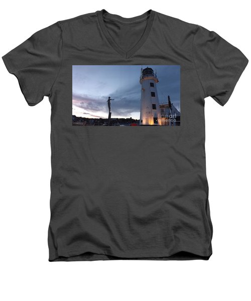 Lighthouse Lady 2 Men's V-Neck T-Shirt