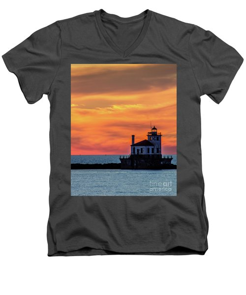 Lighthouse Silhouette Men's V-Neck T-Shirt