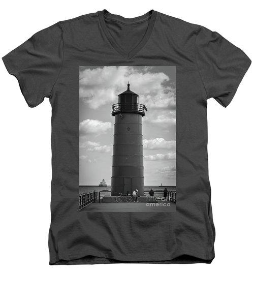 Lighthouses Of Milwaukee Men's V-Neck T-Shirt
