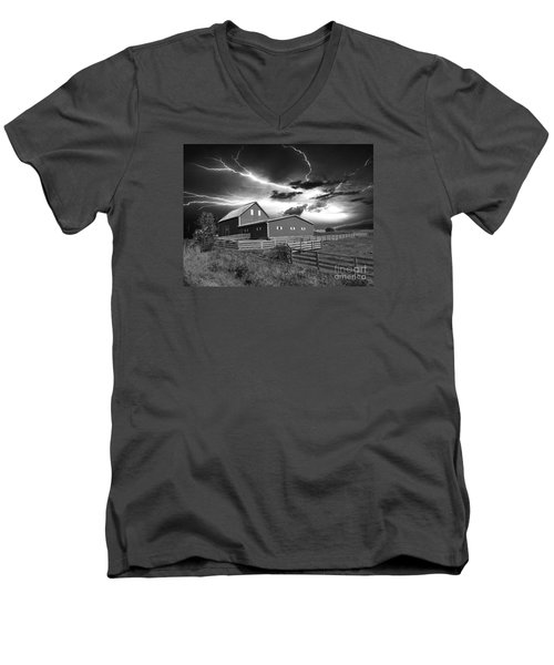 Lighting Strike  Men's V-Neck T-Shirt