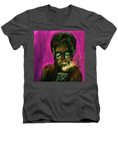 Lighting Up Men's V-Neck T-Shirt by Jim Vance