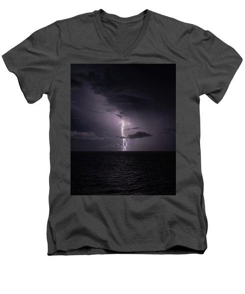 Lightning At Sea I Men's V-Neck T-Shirt