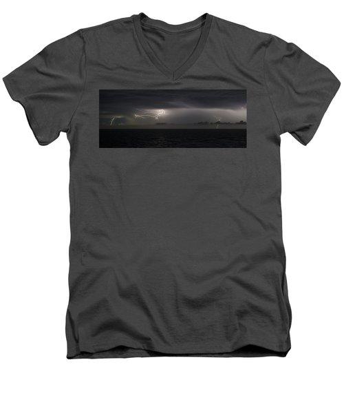 Lightning At Sea II Men's V-Neck T-Shirt