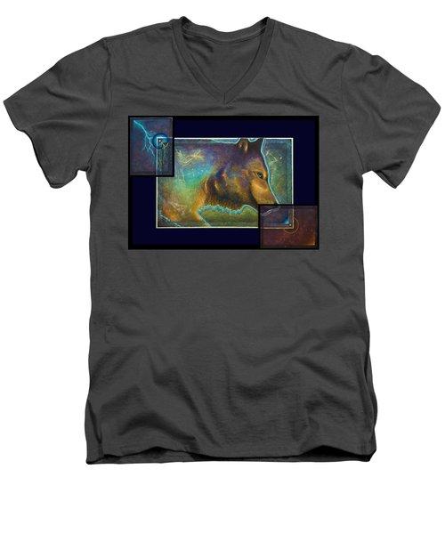 Lightning Path Men's V-Neck T-Shirt